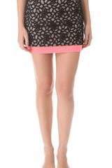 Diane Von Furstenberg Elley Lace Mini Skirt - Lyst