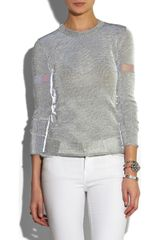 Dion Lee Reflective Knitted Sweater in Gray - Lyst
