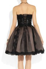 Dolce & Gabbana Strapless Lace and Tulle Dress in Black - Lyst