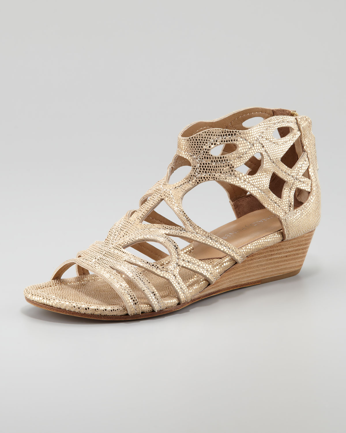 Wedge Gold sandals pictures