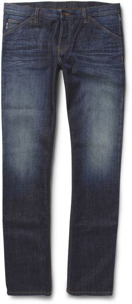 Gucci Washed Slim Fit Jeans - Lyst