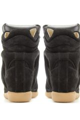 Isabel Marant Bekett Suede Wedge Sneakers in Black (jet) - Lyst