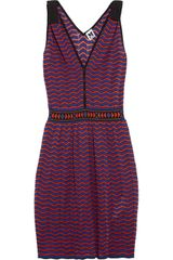 M Missoni Chevronknit Cottonblend Dress - Lyst