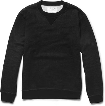 Maison Martin Margiela Elbow Patch Cotton Jersey Sweatshirt - Lyst