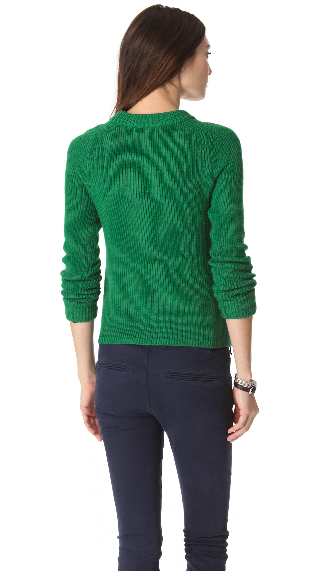 marc by marc jacobs uma sweater in green lyst. Black Bedroom Furniture Sets. Home Design Ideas