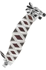 Marc By Marc Jacobs Zebra Enameled Cubic Zirconia and Wood Bracelet - Lyst