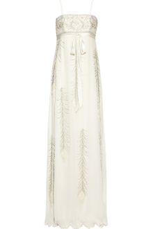 Matthew Williamson Embellished Silk Chiffon Gown - Lyst