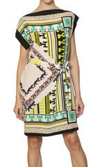 MSGM Printed Crepe De Chine Dress - Lyst