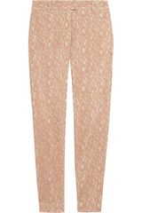 Paul & Joe Lace and Twill Straight Leg Pants - Lyst