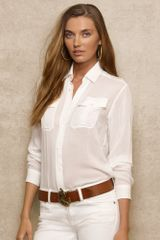 Ralph Lauren Blue Label Sheer Pippa Shirt - Lyst