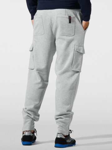 Rlx ralph lauren Fleece Cargo Track Pant in Gray for Men | Lyst
