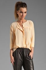 See By Chloé Collarless Shirt Tail Blouse - Lyst