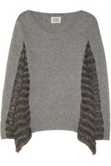 Skaist Taylor Paneled Fine Knit Sweater - Lyst