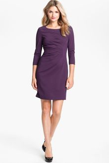 Tahari Seam Detail Ponte Knit Sheath Dress - Lyst