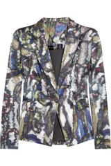 Theyskens' Theory Janta Printed Silk Satin Jacket - Lyst