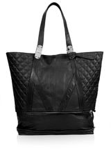 Topshop Quilted Zip Bottom Shopper Bag - Lyst