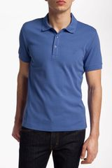 Versace Versace Cotton Polo Shirt - Lyst