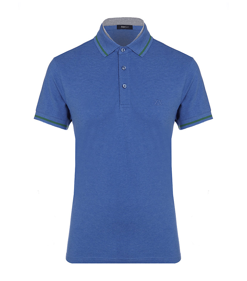 zegna sport polo shirt in blue for lyst