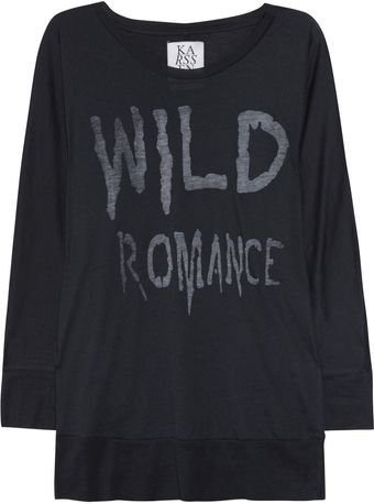 Zoe Karssen Wild Romance Cotton and Modalblend Top - Lyst