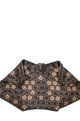 Alexander McQueen Printed Silk Satin Demanta Clutch - Lyst
