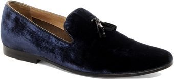 Asos Asos Velvet Tassel Loafer with Leather Sole - Lyst