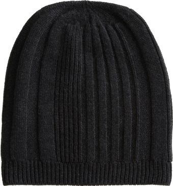 Barneys New York Simple Rib Knit Beanie - Lyst