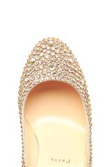 Christian Louboutin Fifi Swarovski Crystal Embellished Pumps in Gold (multi) - Lyst