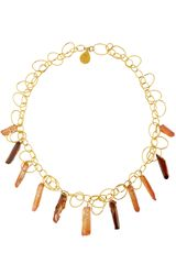Devon Leigh Crystal Quartz Link Necklace - Lyst