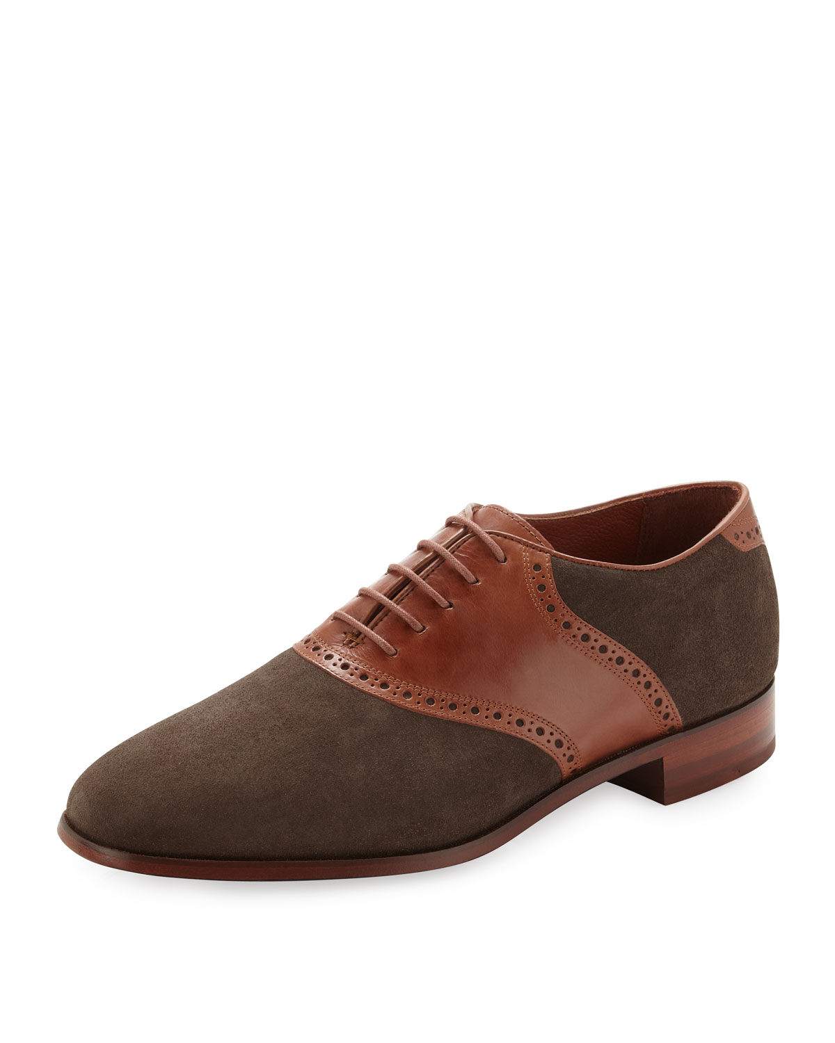 florsheim by duckie brown suedeleather saddle shoe in