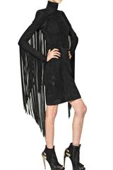 Gareth Pugh Suede Dress with Fringing - Lyst