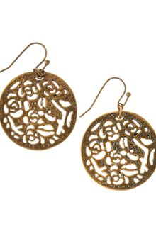 Kendra Scott Madina Brass Round Earrings - Lyst
