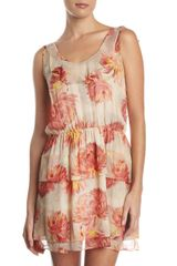Madison Marcus Floralprint Chiffon Dress - Lyst