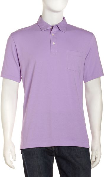 Peter Millar Satinfeel Polo Shirt In Purple For Men