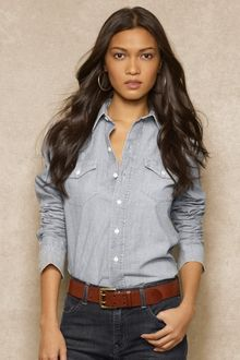 Ralph Lauren Blue Label Western Denim Shirt - Lyst