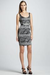 Rickie Freeman for Teri Jon Animal Print Cocktail Dress - Lyst