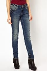 River Island Taylor Skinny Jeans with Scratch Wash - Lyst