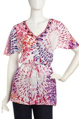 Robert Graham Dahlia Beaded Neck Tunic - Lyst