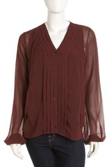 Robert Rodriguez Pleated Tank Blouse - Lyst