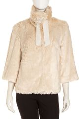 Tahari Faux Fur Jacket - Lyst