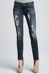 Textile Elizabeth And James Debbie Distressed Skinny Jeans - Lyst