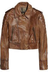 Belstaff Seaton Cropped Leather Biker Jacket - Lyst