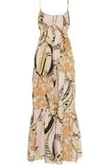 Emilio Pucci Printed Cotton and Silk-blend Maxi Dress - Lyst
