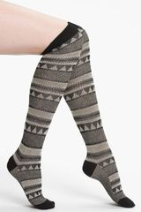 Free People Peaks Valleys Over The Knee Socks - Lyst