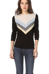 L'Agence Long Sleeve Blend Top - Lyst