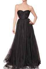 Maria Lucia Hohan Tulle Draped Long Dress