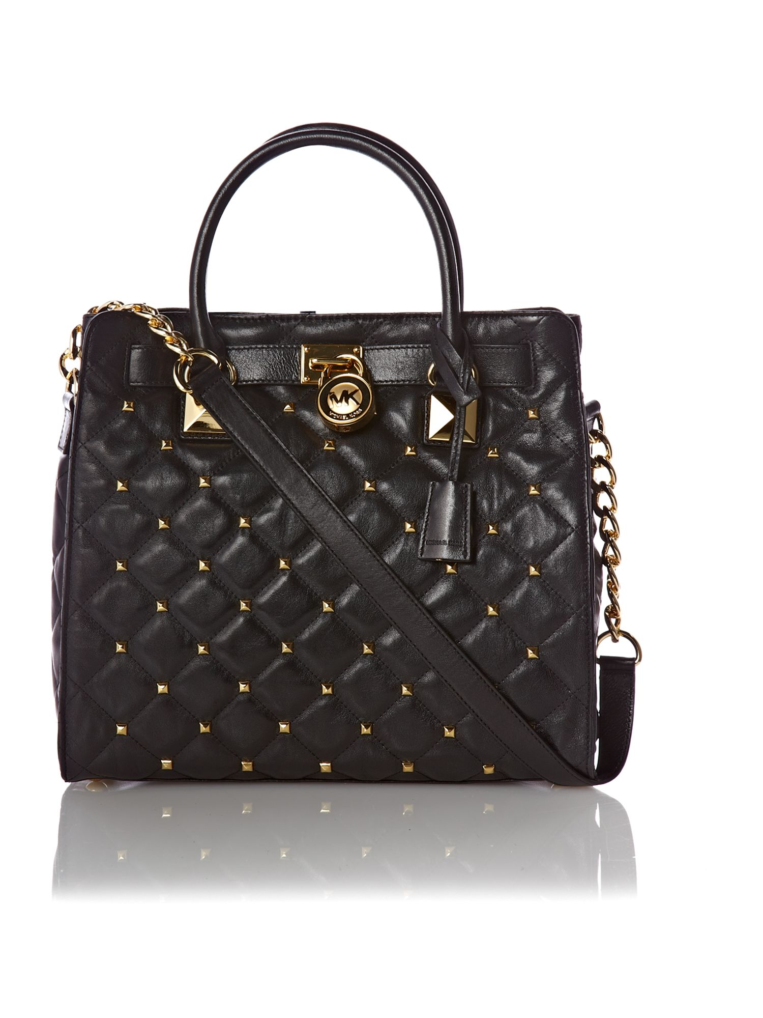 Michael Kors Stud Large Tote Bag In Black Lyst