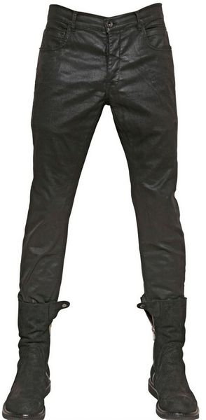 Rick Owens  Detroit Stretch Waxed Denim Jeans - Lyst