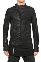 Rick Owens Stretch Waxed Denim Slave Casual Jacket - Lyst