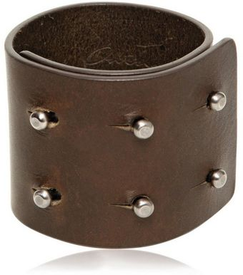 Rick Owens Leather Cuff Bracelet - Lyst
