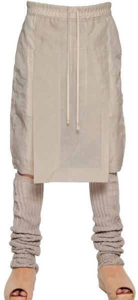 Rick Owens Nylon Long Rise Shorts in Beige for Men (pearl)